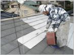 屋根下塗り状況
