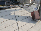 屋根中塗り状況