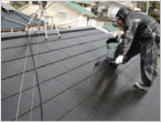 屋根上塗り状況