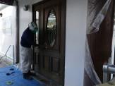 ドア施工中②