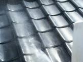 屋根高圧洗浄作業