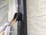 縦樋上塗り作業