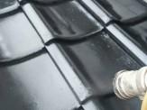 屋根瓦吹き付け作業