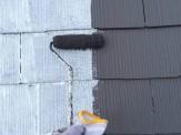 屋根中塗り塗付