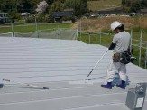屋根下塗り材塗付