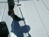 屋根上塗り材塗付