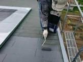 屋根下地調整材塗付